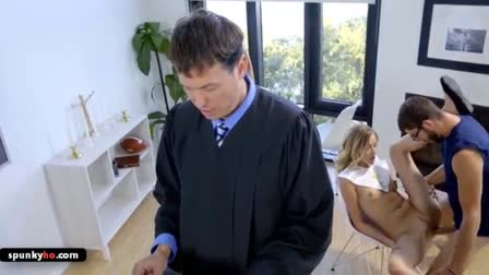 Angel Allwood and Dakota James pounded and cum facialed