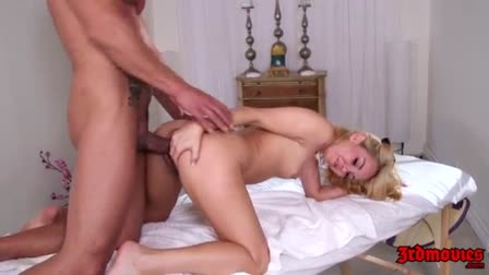 Hard squirting and blowjob blonde with