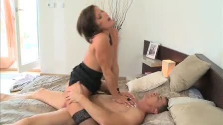 Young lesbian girl dominated by older woman